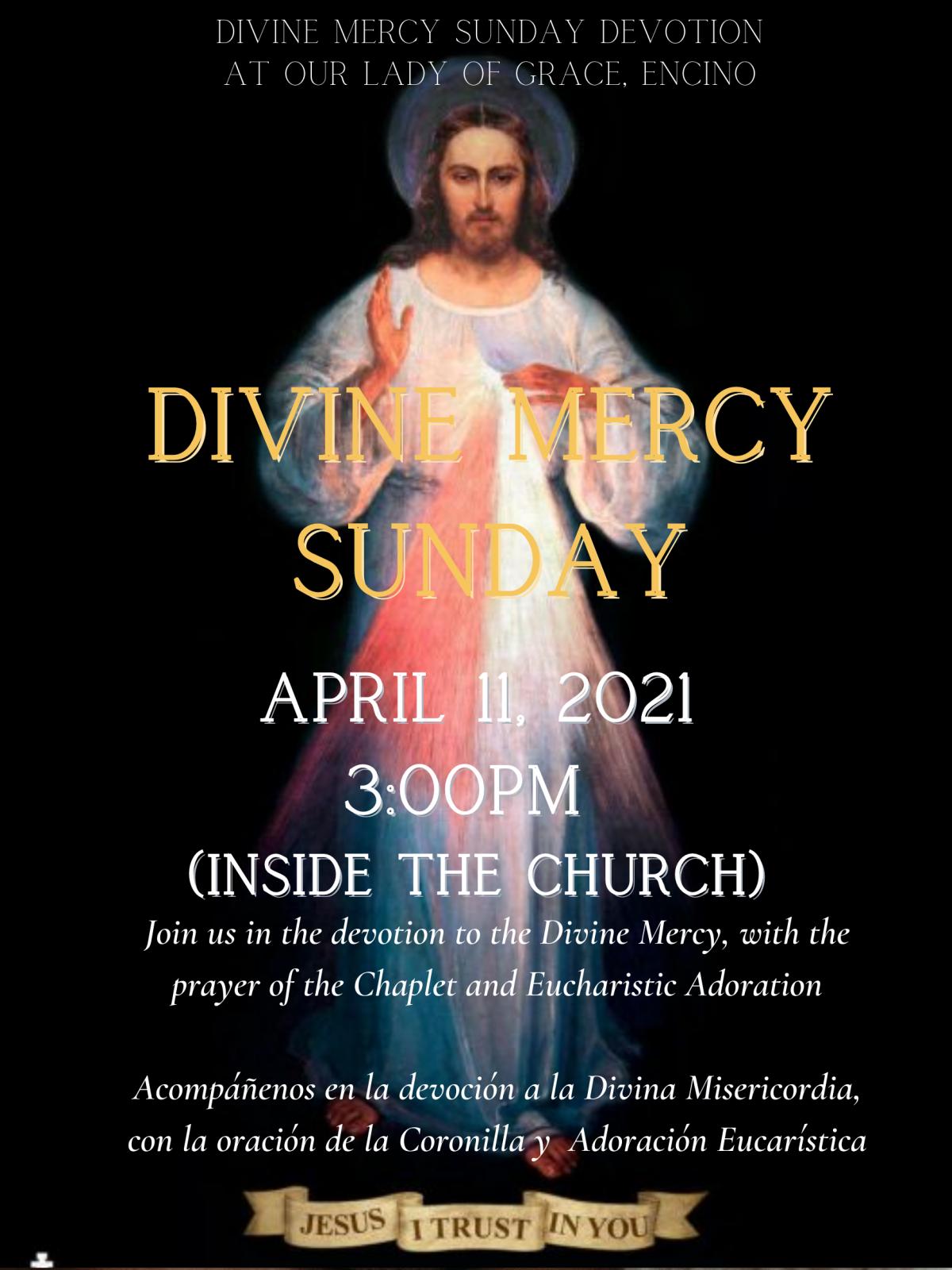 Divine Mercy Sunday Devotion